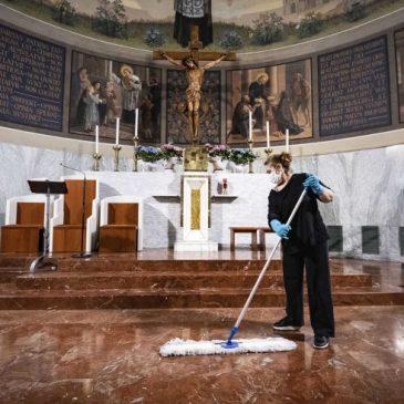 Decreto riguardante la ripresa delle celebrazioni con il Popolo seguito da una lettera di Mons. Oliva