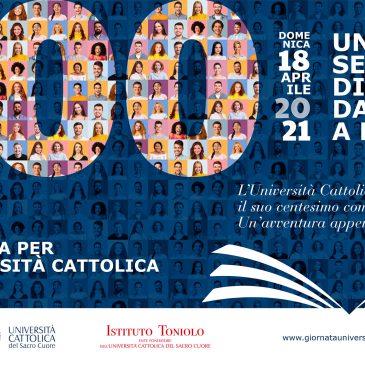 97esima giornata per l'università cattolica